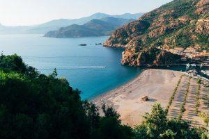la plage dans le sud de la Corse